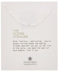 Dogeared - Silver The Scene Stealer Necklace - Lyst