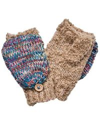 San Diego Hat Company - Women's Fingerless Glove With Contrast Mitten Top - Lyst