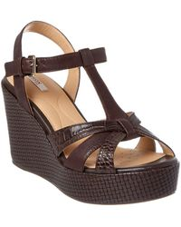 Geox - Jaleah Leather Wedge - Lyst