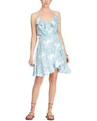Denim & Supply Ralph Lauren - Printed Flounce Wrap Dress - Lyst