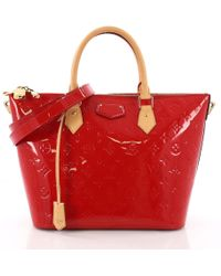 ed99a61f831e Louis Vuitton - Pre Owned Montebello Handbag Monogram Vernis Mm - Lyst
