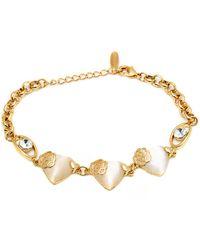 Peermont - Gold And Swarovski Elements Horseshoe Bracelet - Lyst