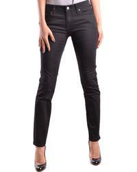 Burberry - Women's Mcbi056197o Black Cotton Jeans - Lyst