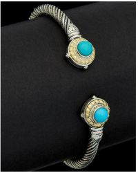 Konstantino - Hermione 18k & Silver 1.50 Ct. Tw. Turquoise Bangle - Lyst
