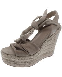 Kendall + Kylie - Womens Grayce Suede Open Toe Wedge Sandals - Lyst