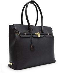 Adrienne Vittadini - Pebble Grain Purse Satchel - Lyst