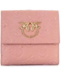 Pinko - Women's Pink Leather Wallet - Lyst