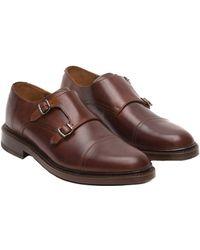 Frye - Men's Jones Double Monk Strap Leather Loafer - Lyst
