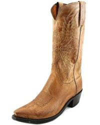 Lucchese - Crayton Men Square Toe Leather Western Boot - Lyst