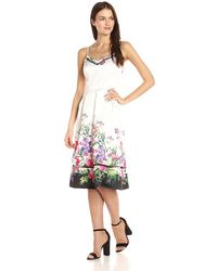 Lyst - Ted Baker Ellore Hanging Gardens Border Maxi in Blue a31d49c69d2