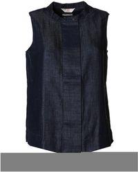 Jeckerson - Women's Blue Other Materials Shirt - Lyst