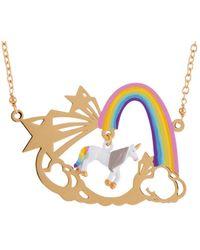 Les Nereides - Unique Unicorn And Rainbow Necklace - Lyst