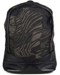 663595762013 Roberto Cavalli - Black Denim And Leather Animal Printed Full Backpack -  Lyst