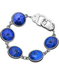 Eklexic - Sapphire Crystal & Cuffs Bracelet (silver) - Lyst