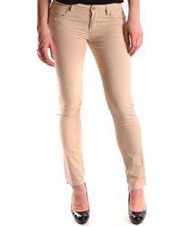 Peuterey - Women's Beige Cotton Jeans - Lyst
