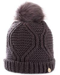 Guess - Women's Grey Wool Hat - Lyst