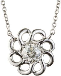 Charles & Colvard - Forever Classic Round 4.5mm Moissanite Fashion Pendant Necklace, 0.33ct Dew - Lyst