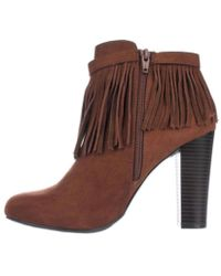 Material Girl - Womens Persia Suede Round Toe Ankle Fashion Boots - Lyst