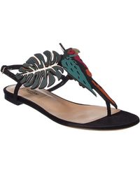 Valentino   Tropical Dream Leather Sandal   Lyst