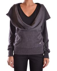 Frankie Morello - Women's Grey Wool Sweatshirt - Lyst