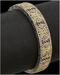 Konstantino - Eros 18k & Silver 0.88 Ct. Tw. Rhodolite Bracelet - Lyst