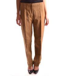 Dries Van Noten - Women's Mcbi104006o Brown Cotton Pants - Lyst