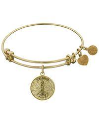 Angelica - Stipple Finish Brass Candle, Believe, Hope, Faith Bangle Bracelet, 7.25 - Lyst