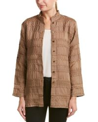 W by Worth - Linen-blend Jacket - Lyst