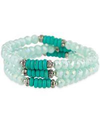 Saachi - Trio Turquoise Beaded Bracelet - Lyst