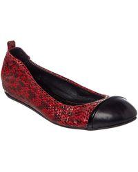 Lanvin - Leather Ballet Flat - Lyst