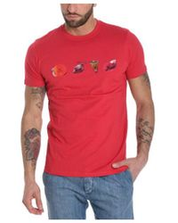 Paul Smith - Men's Red Cotton T-shirt - Lyst