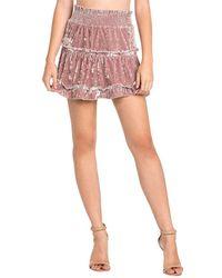 Dance & Marvel - Velvet Ruffle Skirt - Lyst