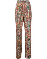 Etro - Women's Multicolor Silk Pants - Lyst