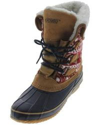 Khombu - Womens Leather Printed Snow Boots - Lyst