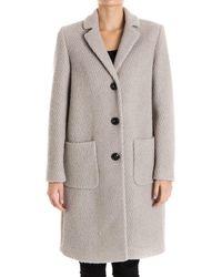 Seventy - Women's Grey Wool Coat - Lyst