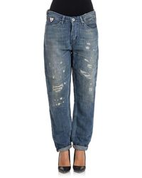 Scotch & Soda - Women's Blue Cotton Jeans - Lyst