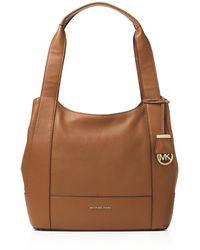 6a488e9d77e1 MICHAEL Michael Kors - Womens Marlon Leather Shoulder Tote Handbag - Lyst