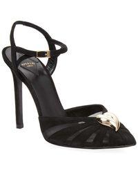 Aperlai - Heart Leather Pointed Toe Sandal - Lyst