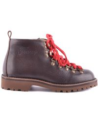 Fracap - Women's Brown Leather Ankle Boots - Lyst