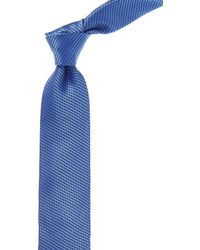 Canali - Blue Abstract Silk Tie - Lyst