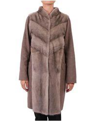 Rizal - Women's Brown Wool Coat - Lyst