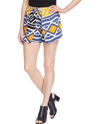 Ella Moss - Womens Luana Crepe Printed Casual Shorts - Lyst