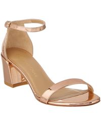 Stuart Weitzman - Simple Patent Heeled Sandal - Lyst