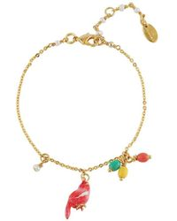 Les Nereides - Lovely Canaries Coral Bird And Charms Bracelet - Lyst