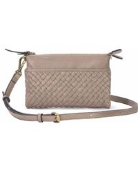 Mofe - Sonder Woven Leather Convertible Crossbody Wallet And Clutch With Adjustable Strap - Lyst