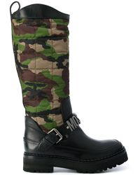 Moschino - Camouflage Quilted Boots - Lyst