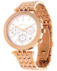 Esprit - Watch Chronograph Pink Gold Es108742002 - Lyst