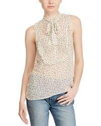 Denim & Supply Ralph Lauren - Floral Ruffled Top - Lyst