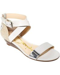 Enzo Angiolini - Kahny Wedge Sandals - White Multi - Lyst
