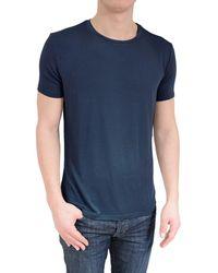 Stone Rose - Soft Navy Crew Neck T-shirt - Lyst